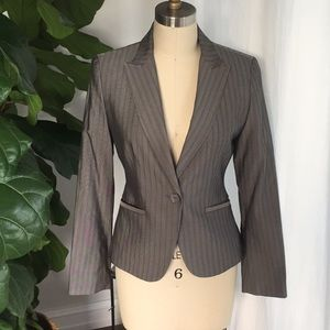 Express Gray 1-Button Jacket